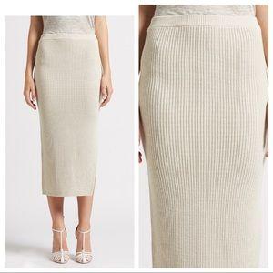 Brochu Walker NWT Cerys Skirt in birch fitted midi